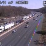 Truck crash closes lanes on southbound I-95
