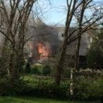 Crews battling Parkville house fire