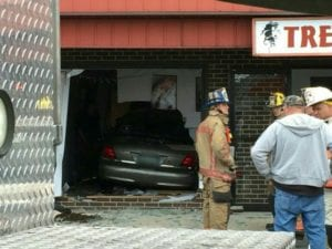 Vehicle into Salon Dundalk
