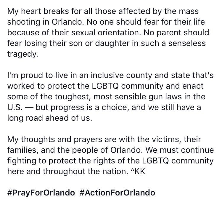 Kamenetz Statement on Orlando Shooting