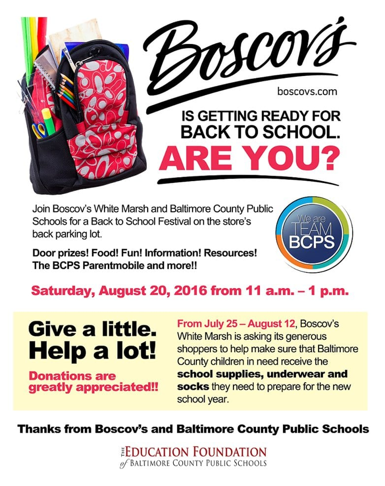 Boscov Back to School Festival