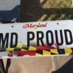 Gov. Hogan unveils new 'Maryland Proud' state flag license plate