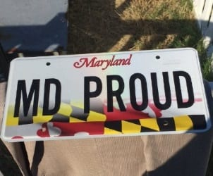 Maryland Flag License Plate