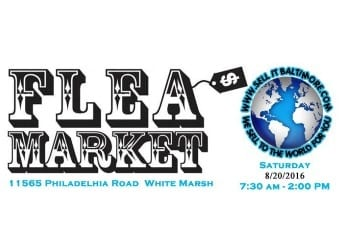 Sell It Baltimore White Marsh Flea Market 201608