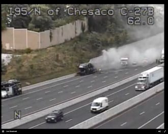 Vehicle Fire I-95 20160810