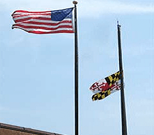 maryland-flag-half-staff
