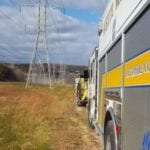 Brush fire reported in White Marsh