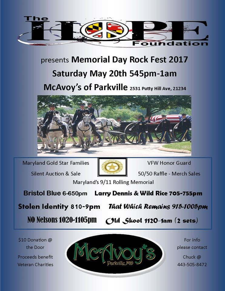 Memorial Day Rock Fest McAvoys 2017