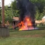 Playground fire reported in Joppa