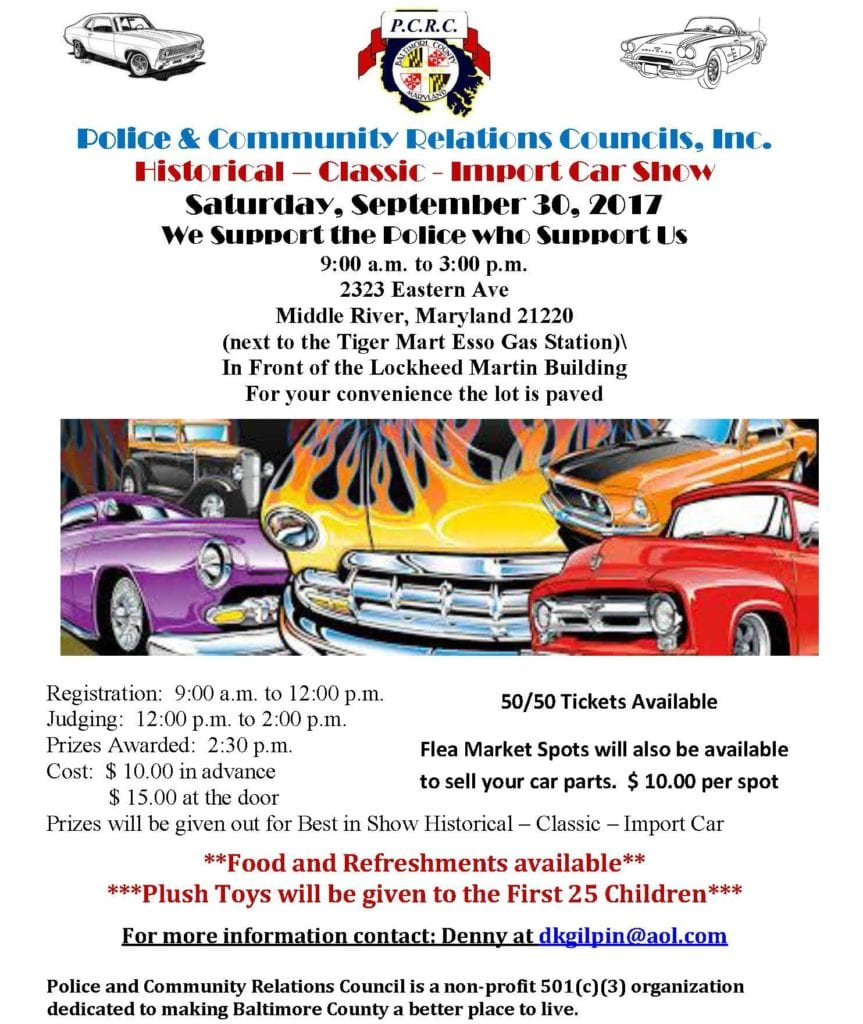 Police Community Relations Car Show 2017