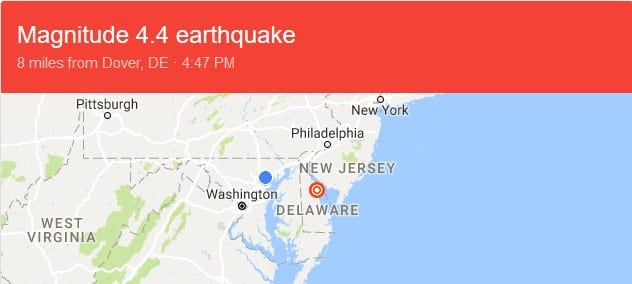 East Coast Earthquake 20171130