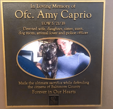 Amy Caprio Plaque