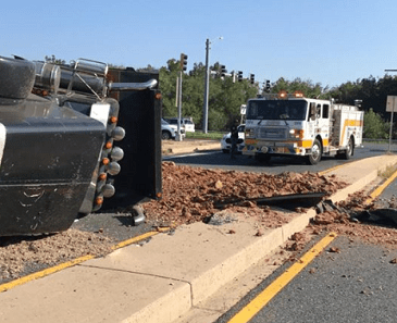 Dump Truck Crash Route 40 20180905