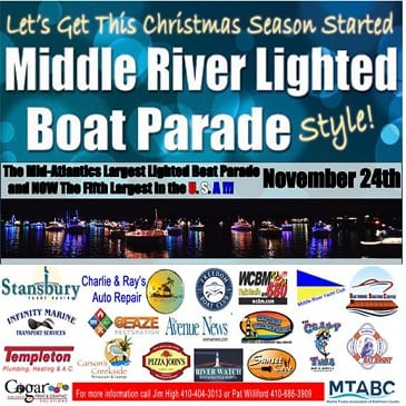 Middle River Lighted Boat Parade 2018