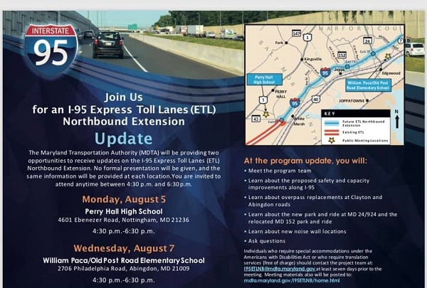I-95 Express Toll Lanes Northern Expansion Meetings