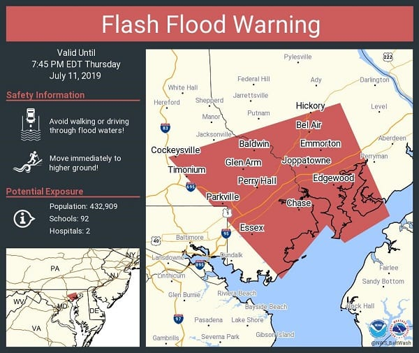 NWS Flash Flood Warning 20190711